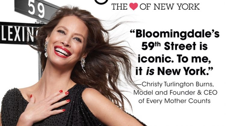Christy Turlington stars in Bloomingdale's Heart of N.Y. campaign