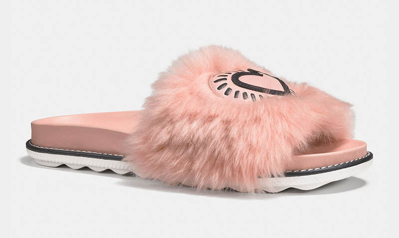Coach x Keith Haring Sandal Slide in Pink $195
