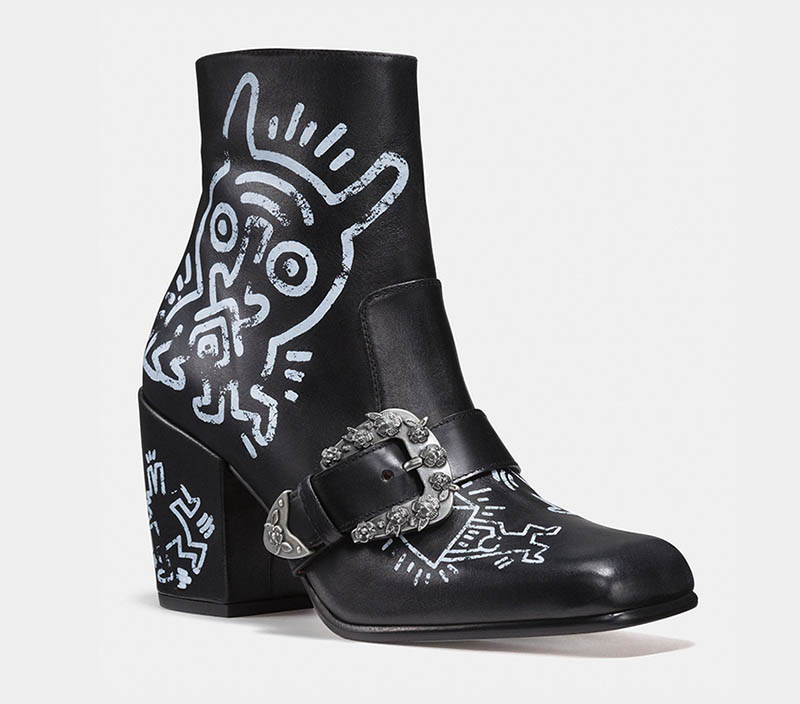 Coach x Keith Haring Western Moto Bootie $550