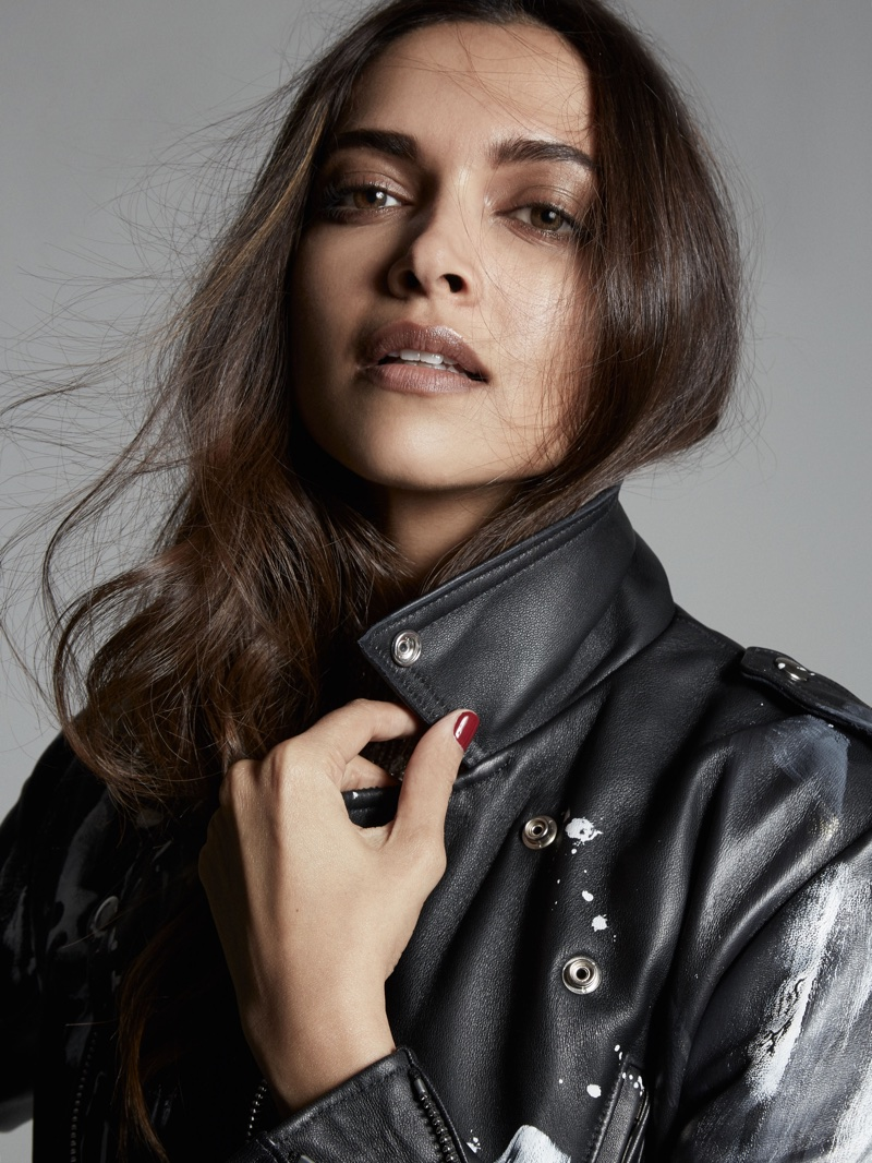 Actress Deepika Padukone wears MARR LDN leather jacket