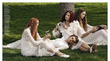 Il Bianco Club: Vanity Fair Italy Features Dreamy White Dresses