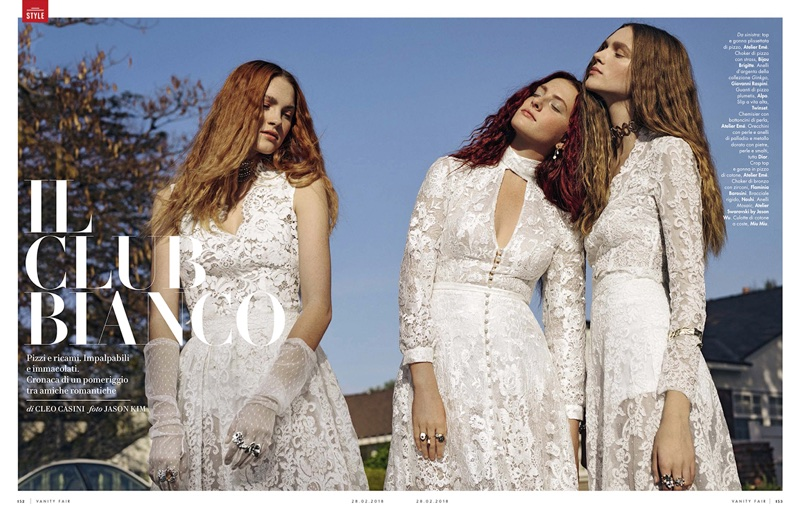 Il Club Bianco: Vanity Fair Italy Features Dreamy White Dresses