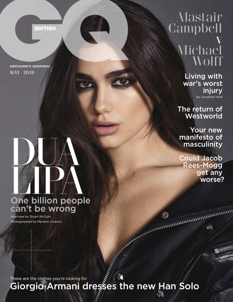 Dua Lipa on GQ UK May 2018 Cover