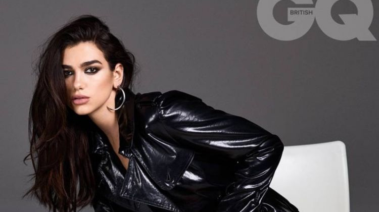 Dua Lipa Dresses in All Black Outfits for GQ UK