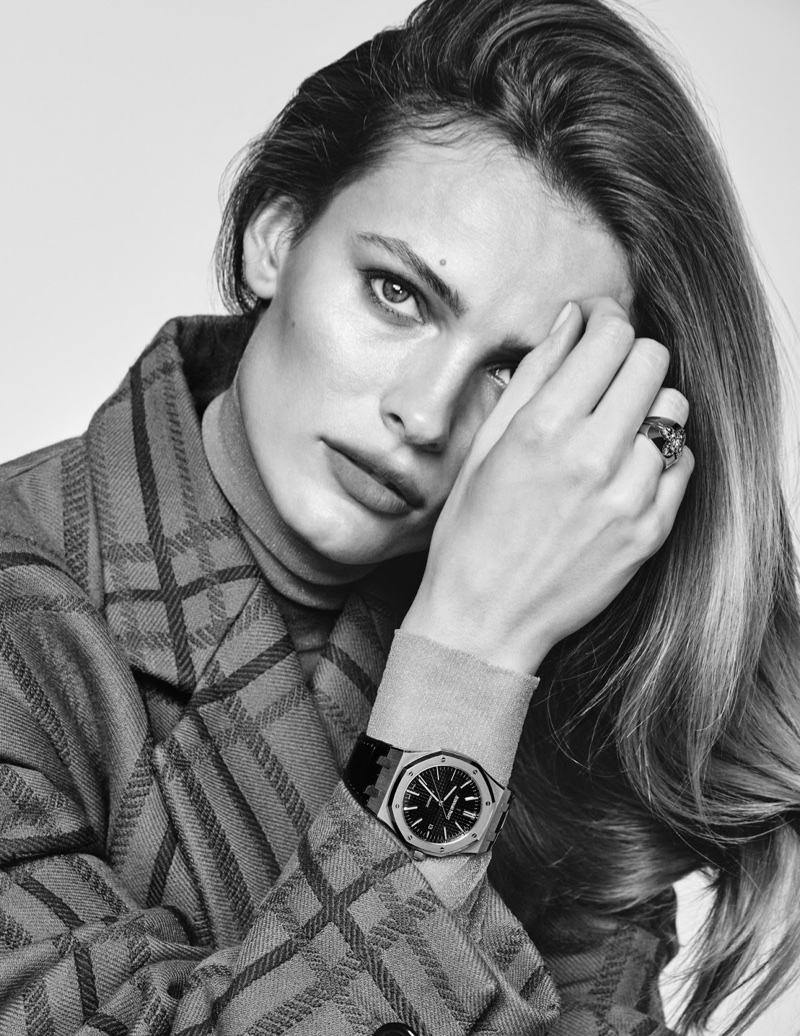 Edita Vilkeviciute Wears Luxe Timepieces for Vogue Paris