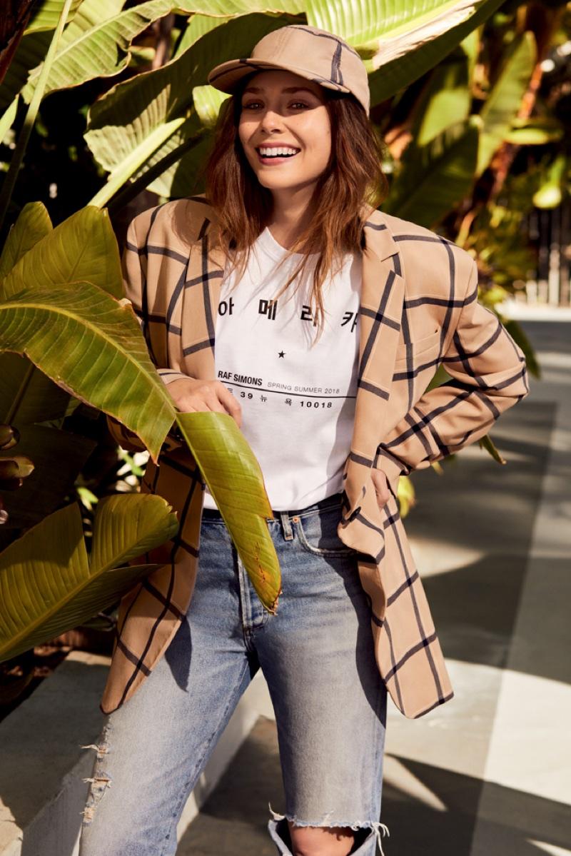 Elizabeth Olsen Vogue Korea 2018 Casual Fashion Shoot