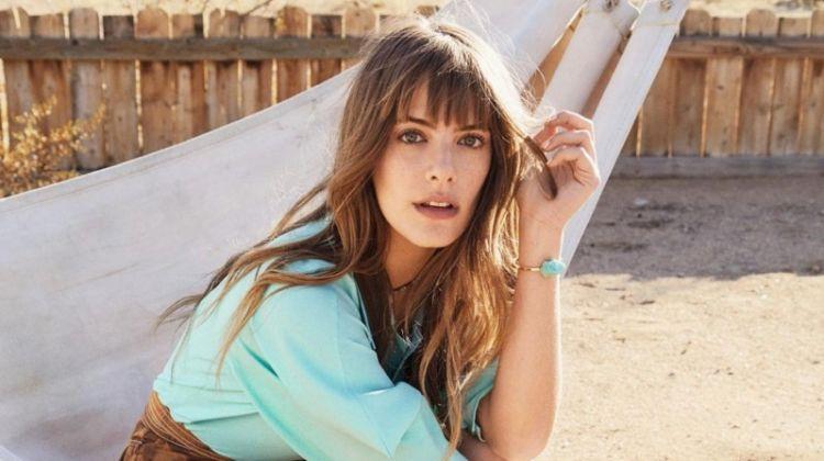 Emily Labowe Models Desert-Ready Fashions for Grazia France
