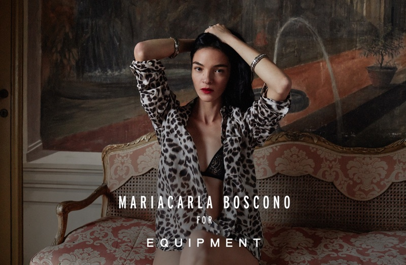 Mariacarla Boscono stars in Equipment's spring-summer 2018 campaign