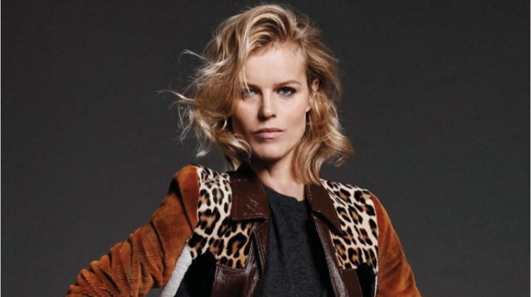 Eva Herzigova Wears the Chicest Outfits for ELLE France