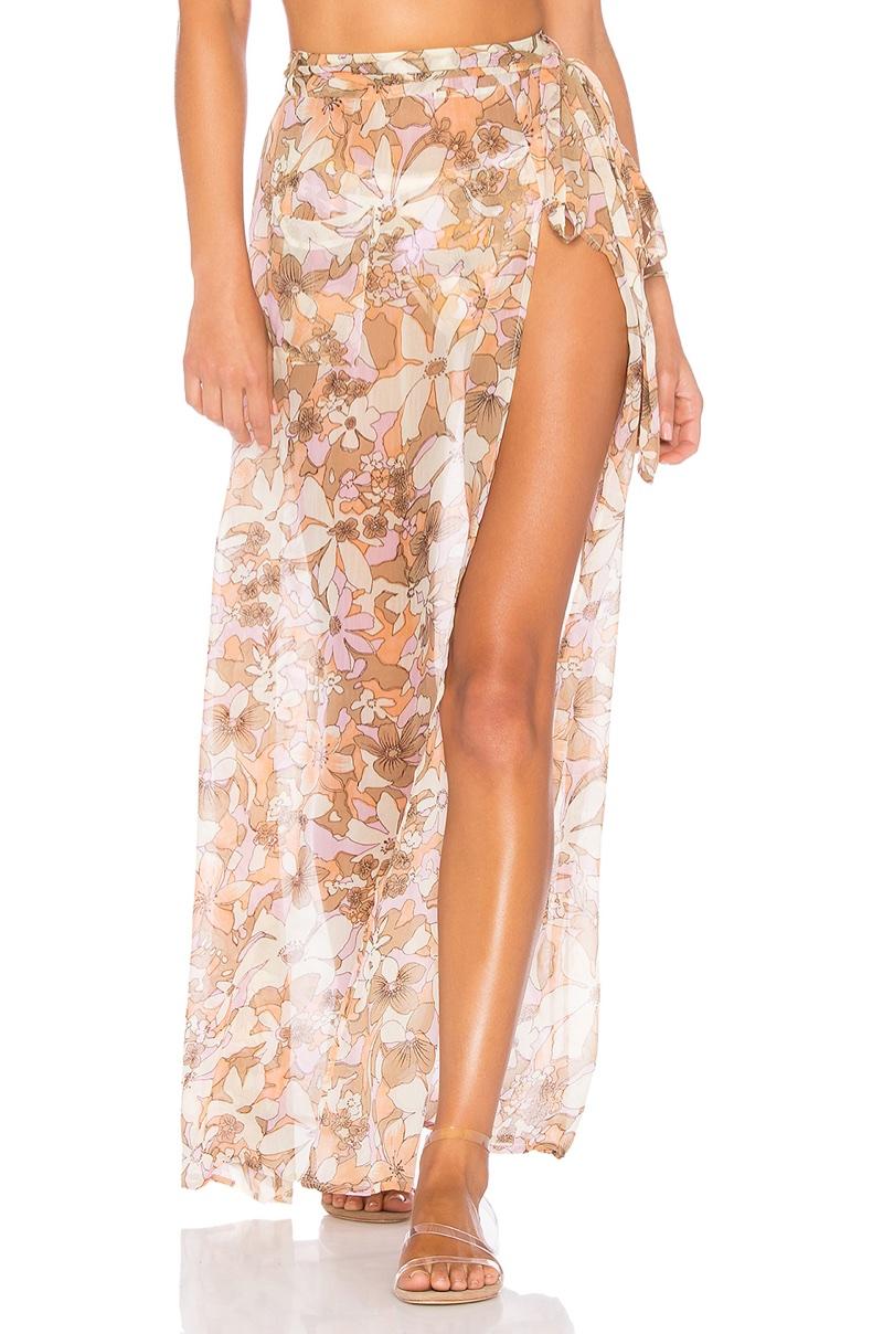 For Love & Lemons Havana Chiffon Skirt $180