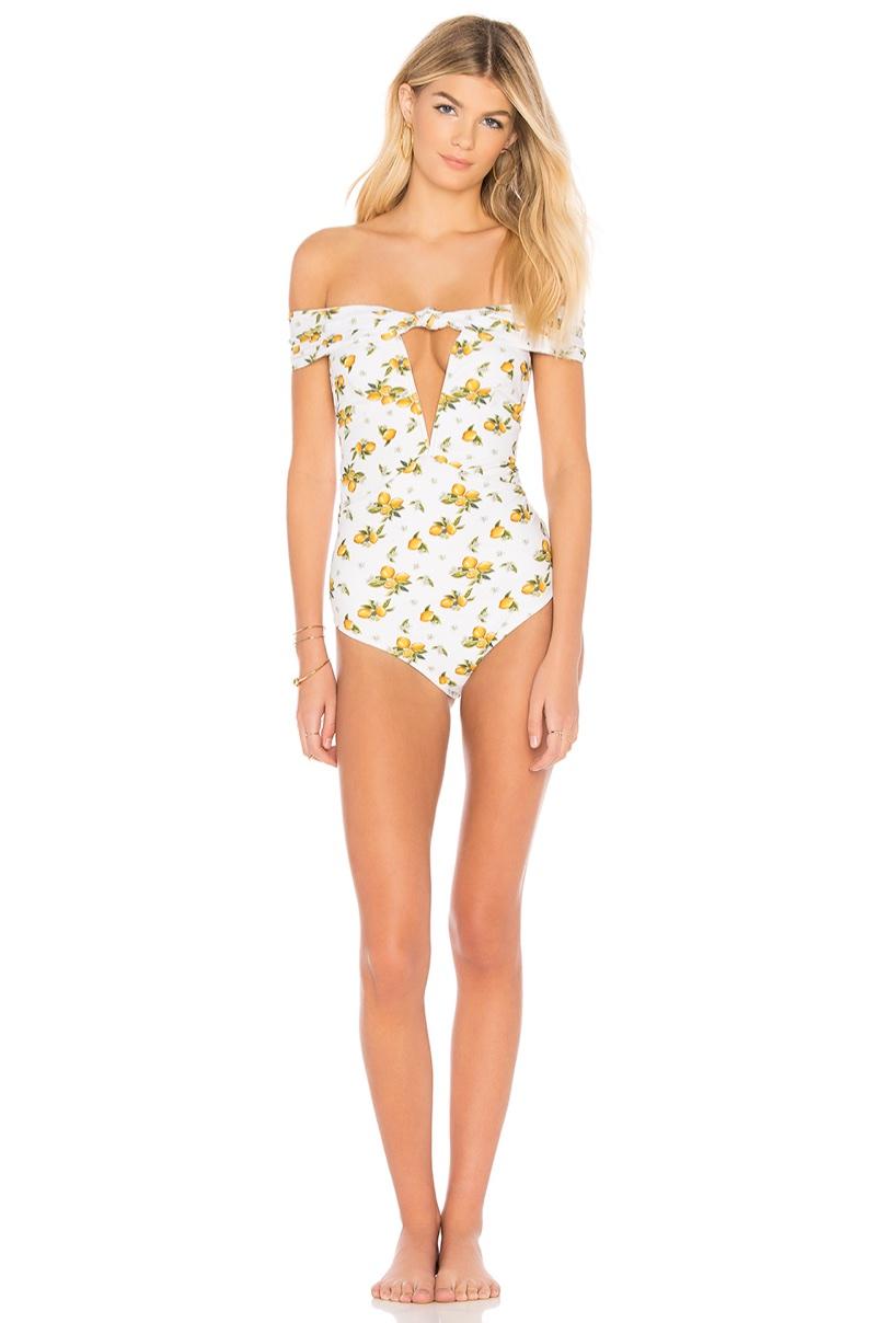 For Love & Lemons Limonada One Piece Swimsuit $202