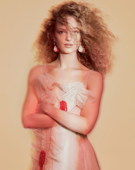Frederikke Sofie Looks Pretty in Pastels for Vogue Russia