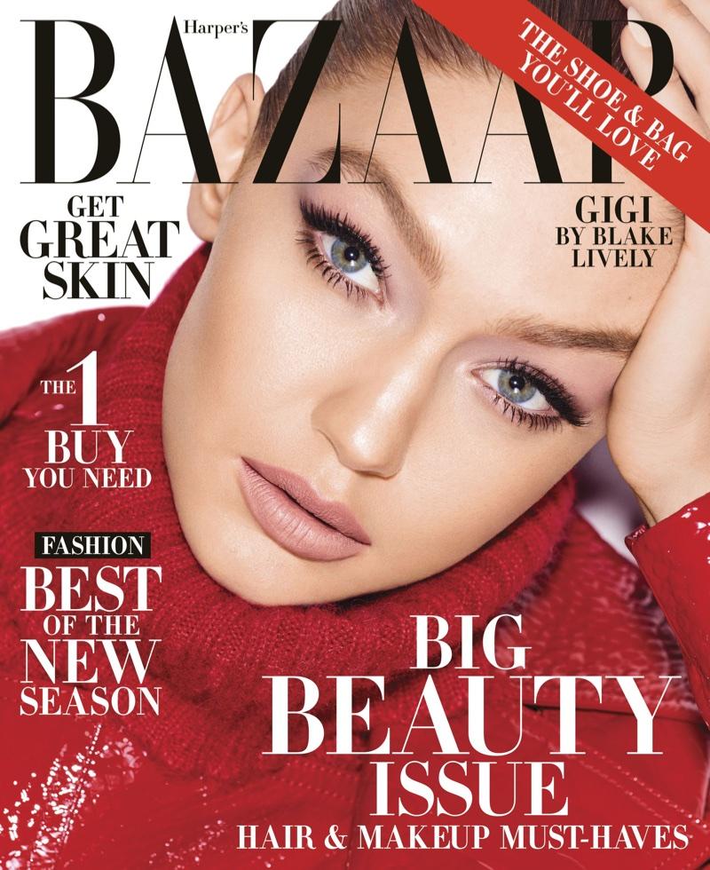 Gigi Hadid Models Luxe Looks - Harper`s Bazaar May 2018