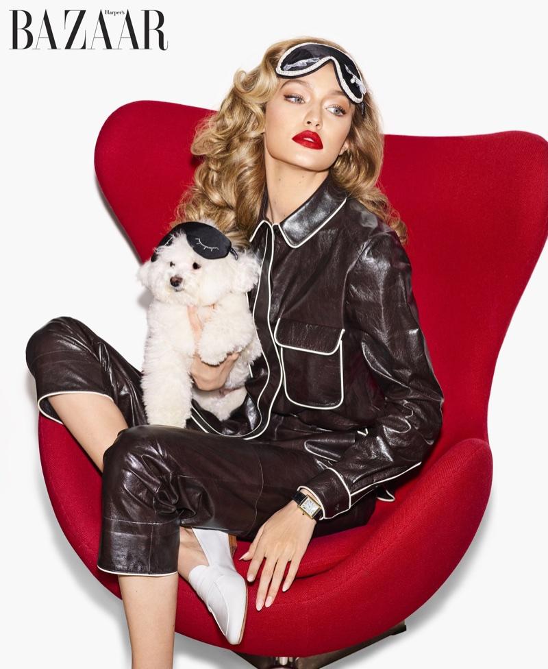 Gigi Hadid Models Luxe Looks for Harper's Bazaar