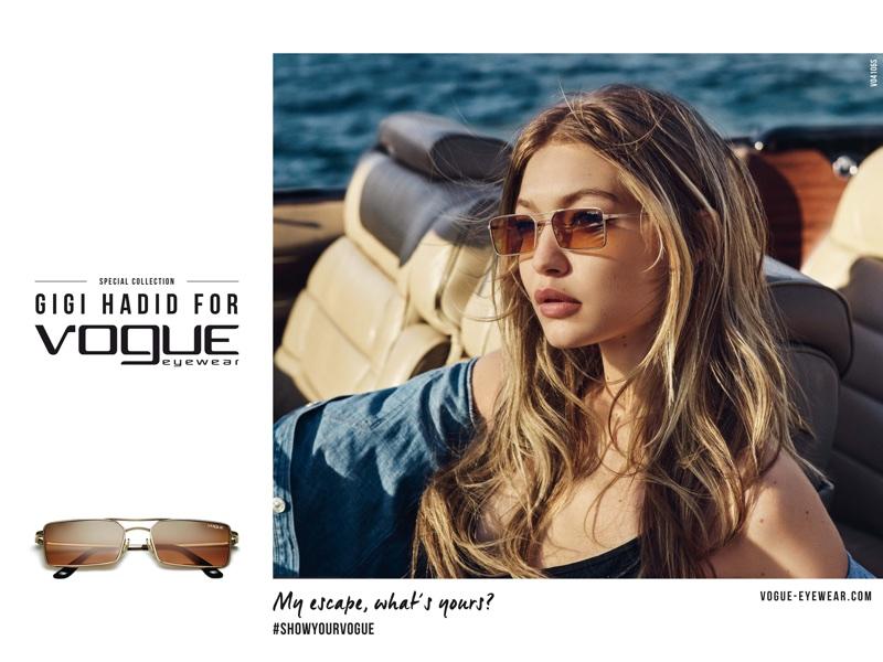 Gigi Hadid stars in Vogue Eyewear 2018 campaign