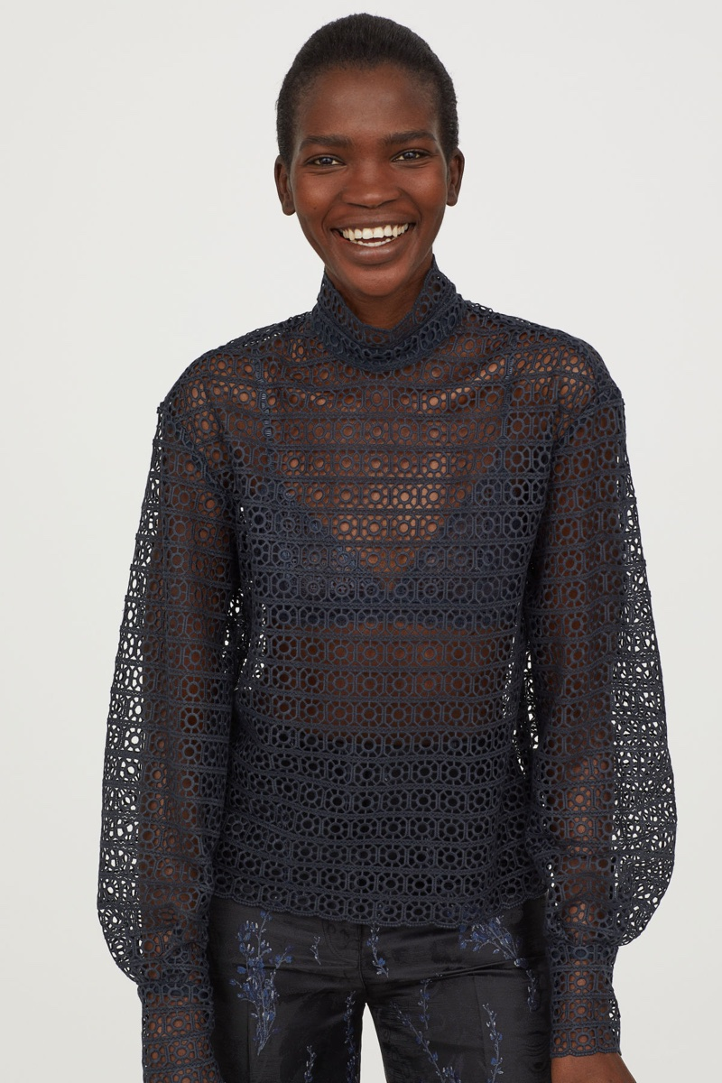 H&M Conscious Exclusive Lace Blouse $129