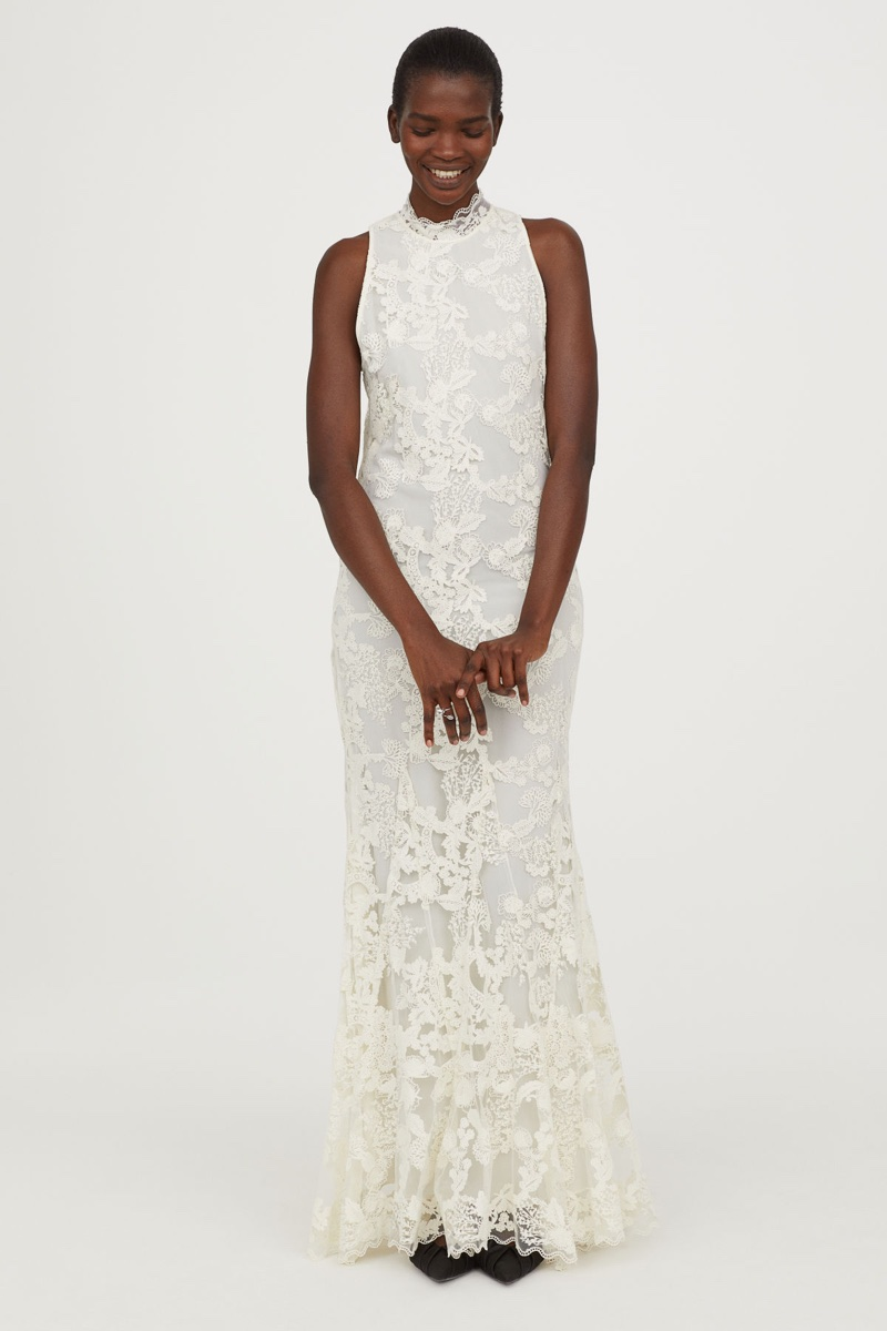 H&M Conscious Exclusive Long Lace Dress $399