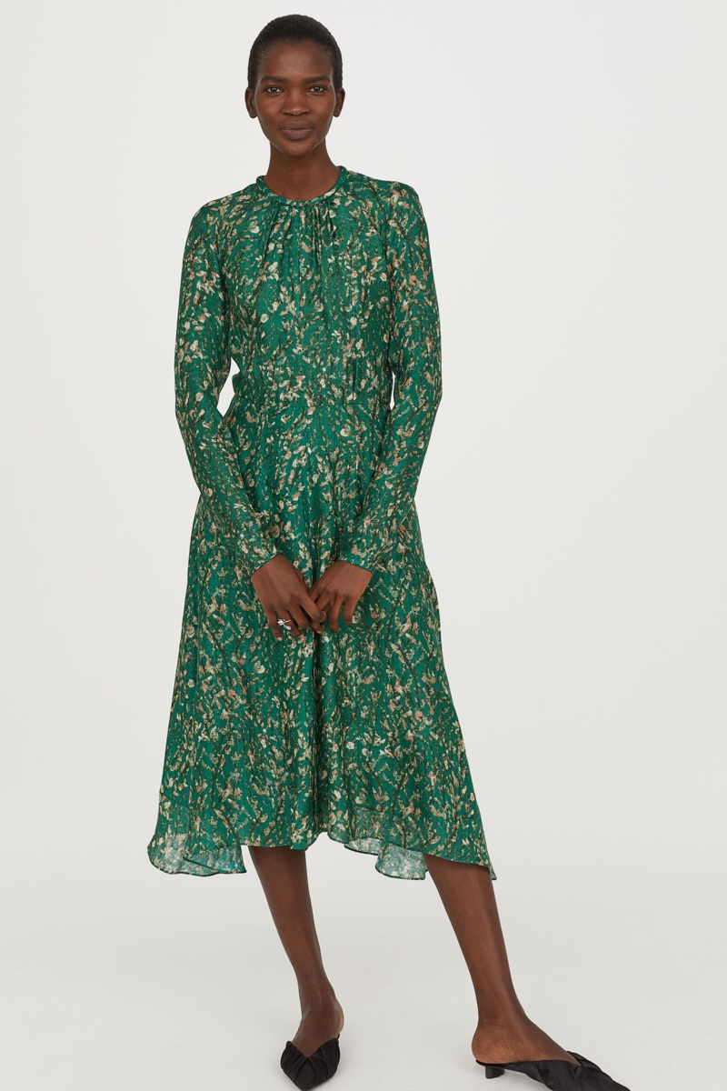 H&M Conscious Exclusive Silk Printed Dress $249