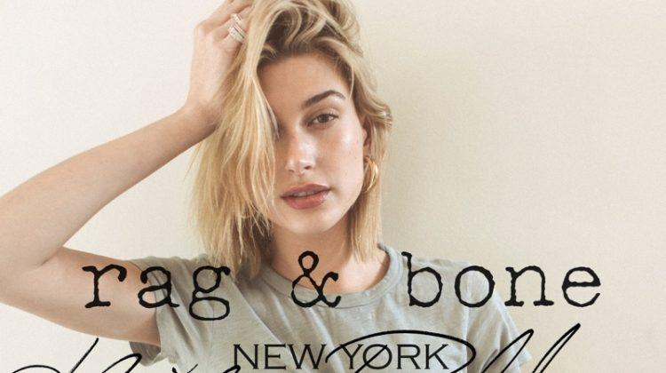 Hailey Baldwin Wears Denim for Rag & Bone's DIY Project