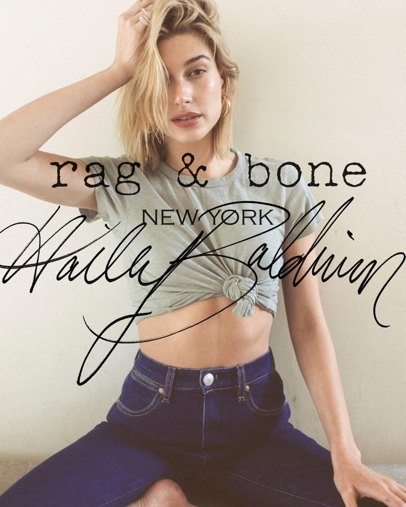 Hailey Baldwin stars in Rag & Bone's 2018 D.I.Y. Project