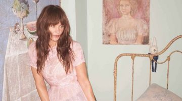 Helena Christensen Looks Stylish at Home for Eurowoman