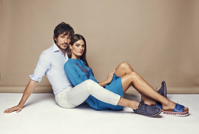 Andres Velencoso and Isabeli Fontana couple up for Carmela Shoes' spring-summer 2018 campaign