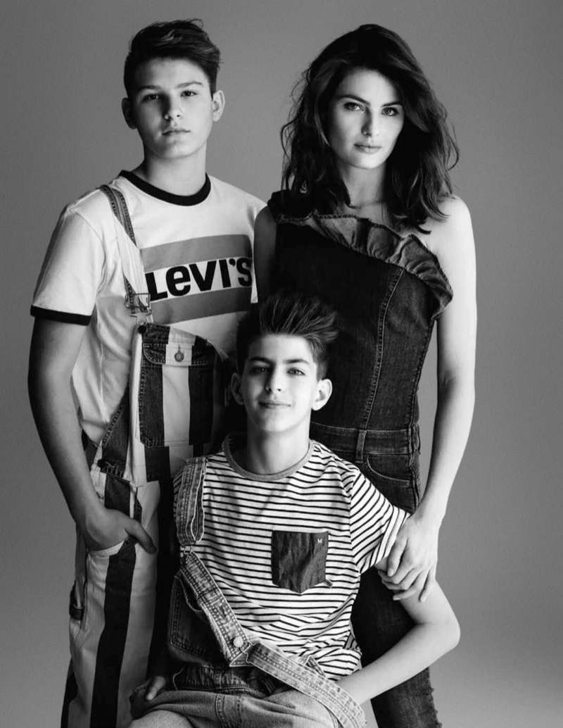Isabeli Fontana Poses with Sons Zion & Lucas for ELLE Russia