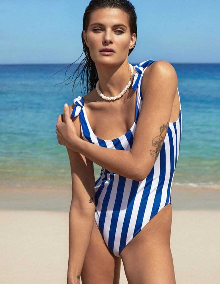 Isabeli Fontana Shows Off Her Swimsuit Figure for ELLE Spain