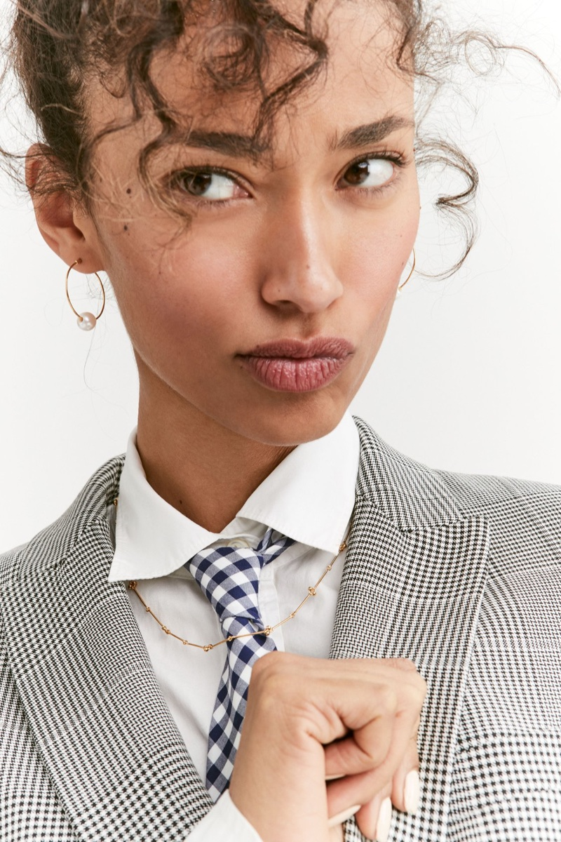 J. Crew Dover Blazer in Glen Plaid, Thomas Mason for J. Crew Boy Shirt and Cotton Tie in Classic Gingham