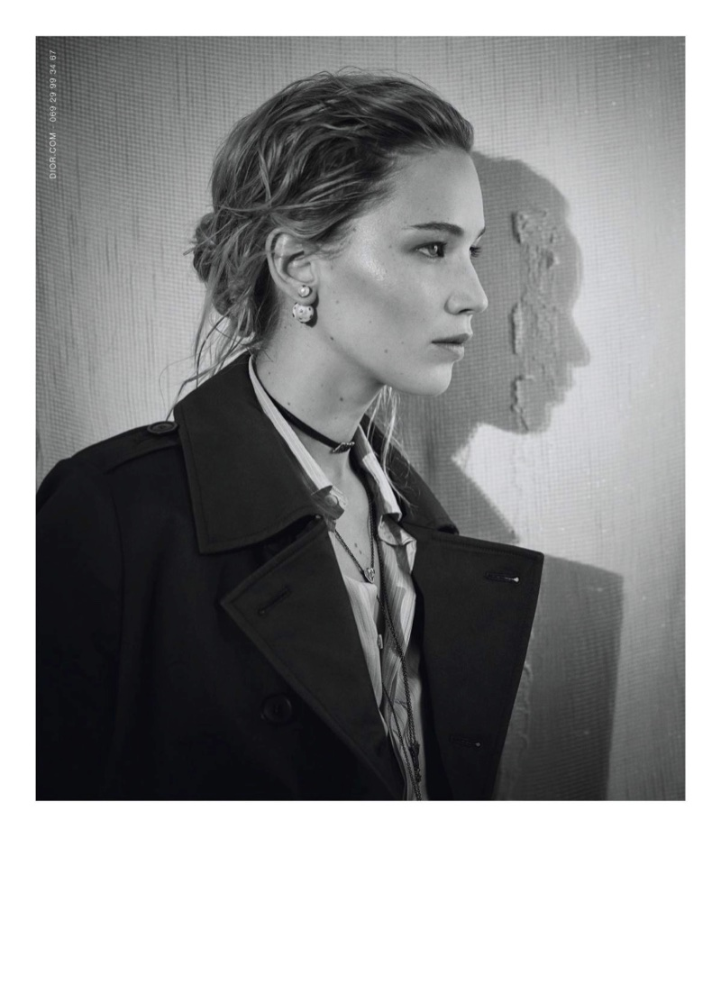 Showing off her profile, Jennifer Lawrence fronts Dior's pre-fall 2018 campaign