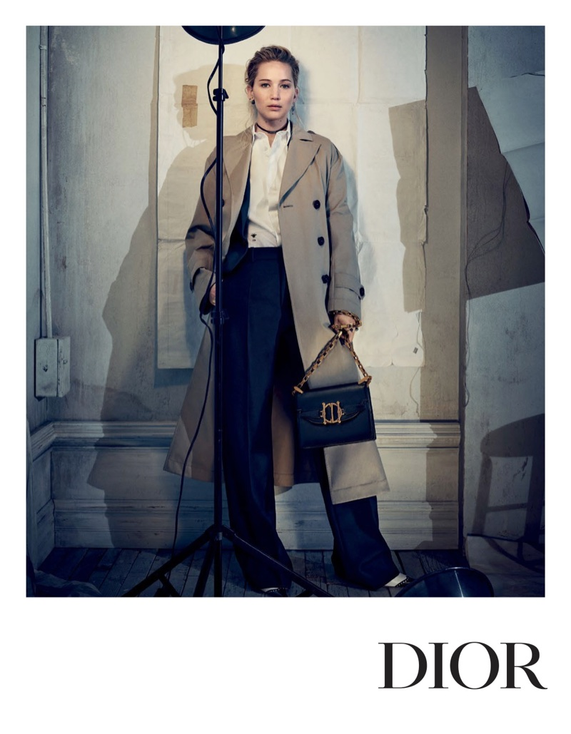 An image from Dior's pre-fall 2018 campaign with Jennifer Lawrence
