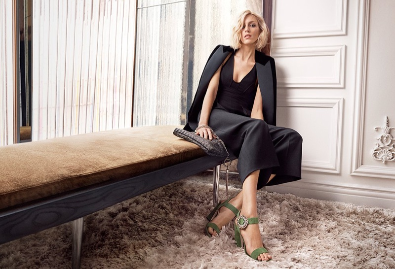 Jimmy Choo features the Mischa sandal in pre-fall 2018 campaign