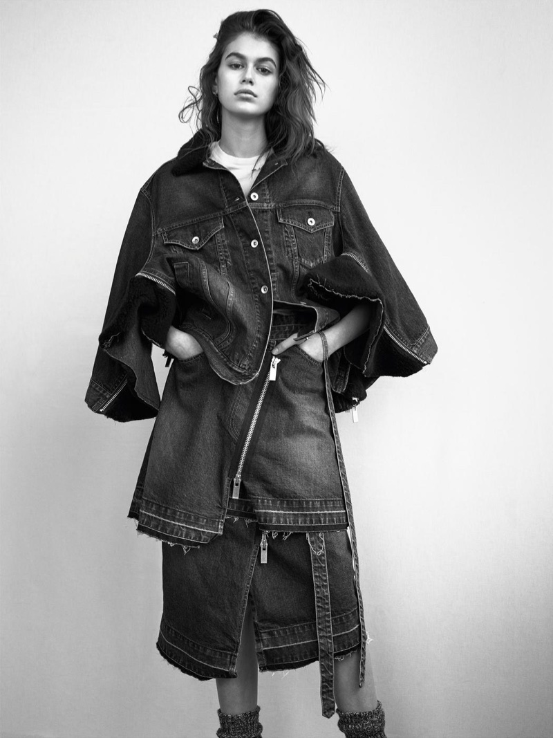 Kaia Gerber Rocks Casual Outfits for i-D