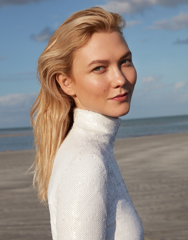 Karlie Kloss Poses in Chic Beach Fashion for PORTER Magazine