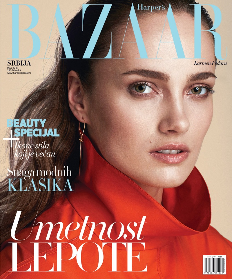 Karmen Pedaru Wears BOSS Fashion for Harper's Bazaar Serbia