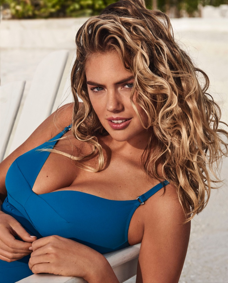Kate Upton poses in Yamamay Swimwear's new Sculpt collection
