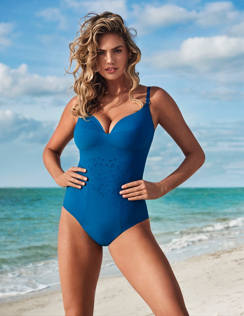 Flaunting her figure, Kate Upton models one-piece for Yamamay Swimwear's summer 2018 campaign