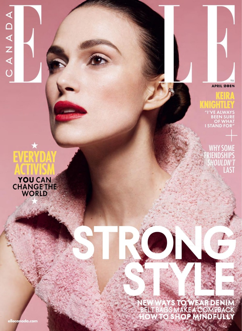 Keira Knightley on ELLE Canada April 2018 Cover