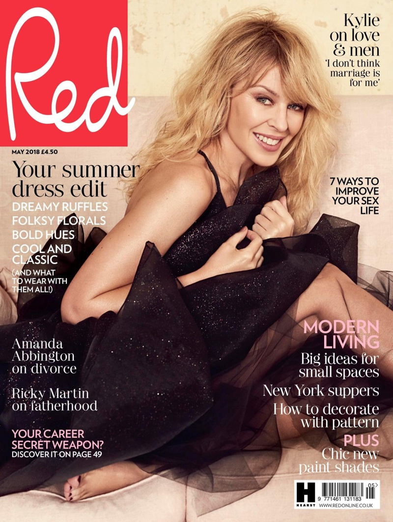 Kylie Minogue on Red Magazine May 2018 Cover