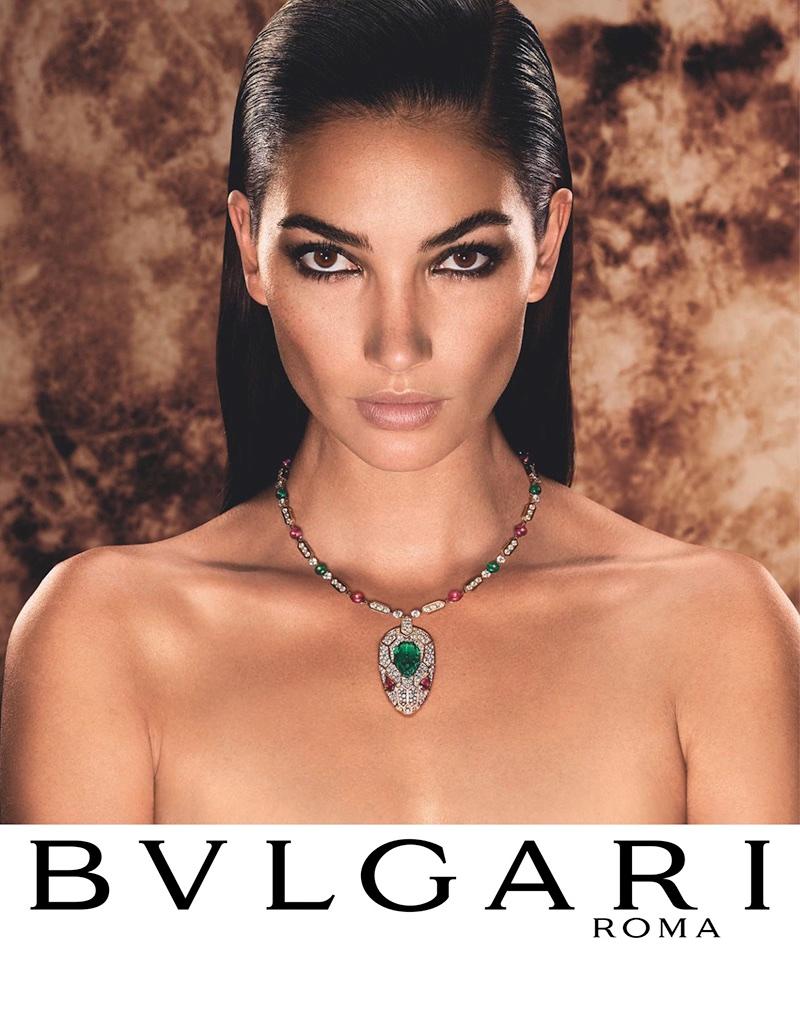 Lily Aldridge stars in Bulgari Serpenti jewelry campaign
