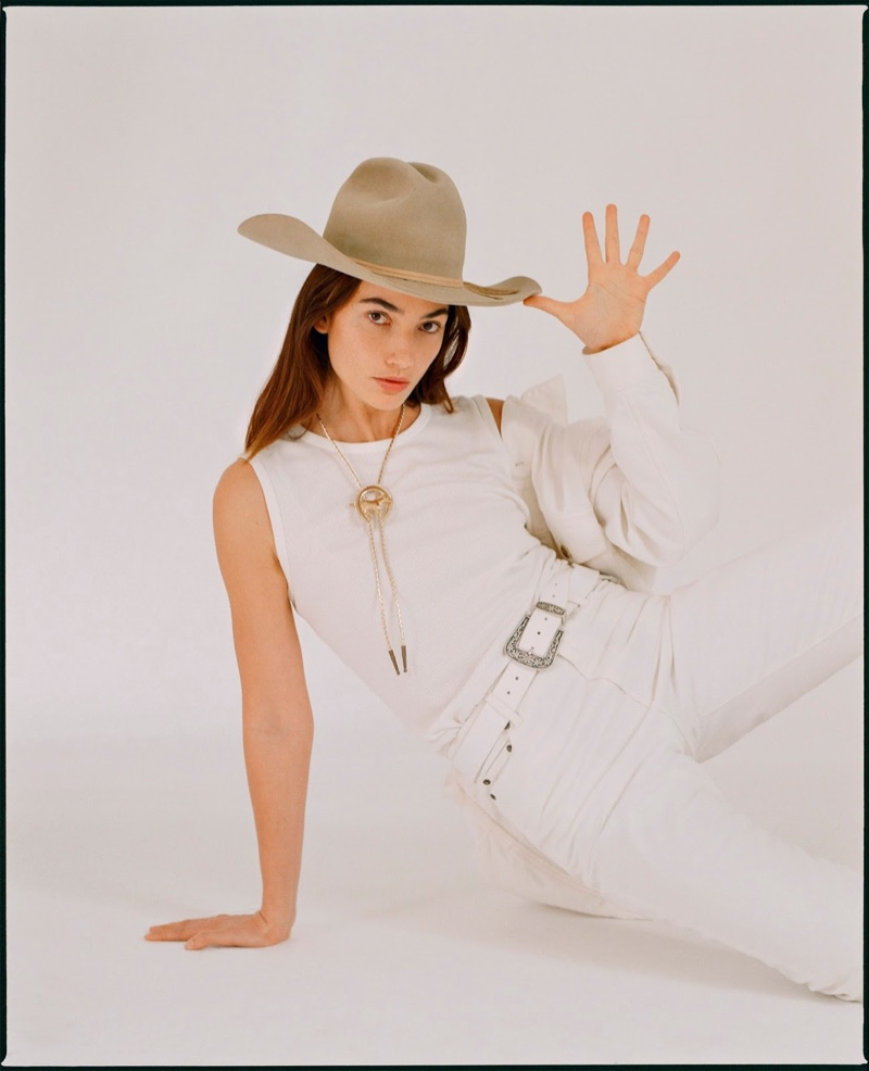 Lily Aldridge Takes On Western Style for PORTER Edit