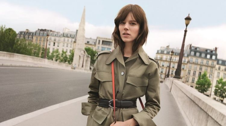 Freja Beha Erichsen Takes a Stroll in Longchamp's Spring 2018 Campaign