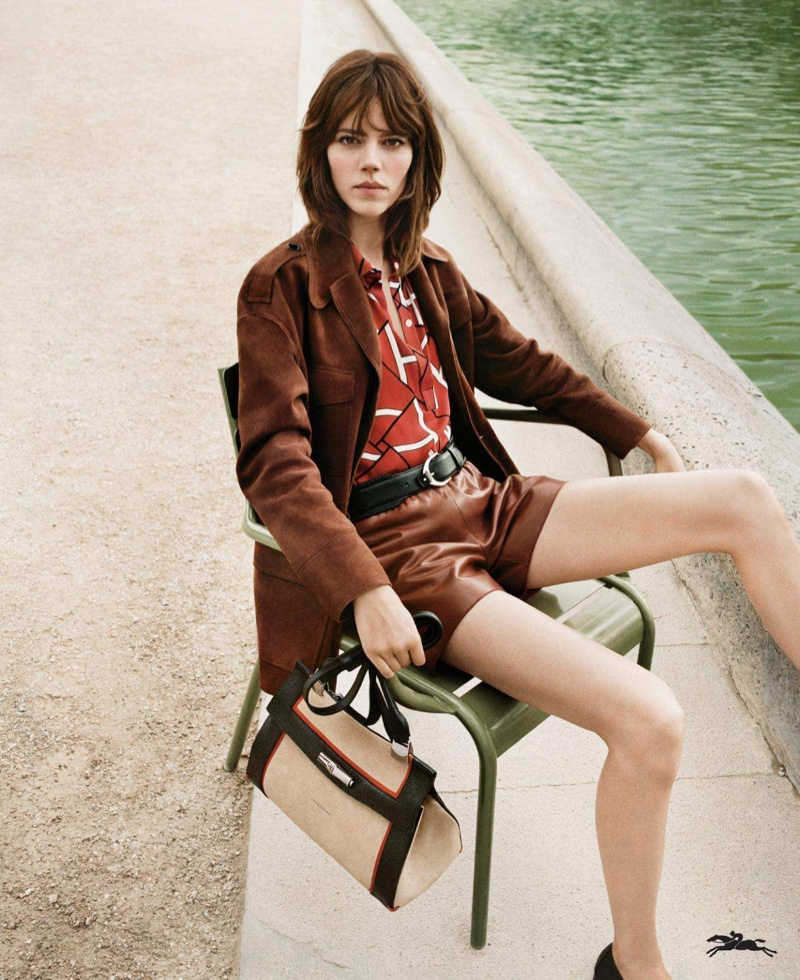 An image from Longchamp's spring 2018 advertising campaign