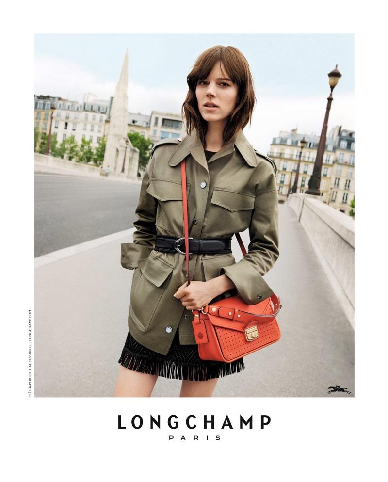 Freja Beha Erichsen stars in Longchamp's spring-summer 2018 campaign
