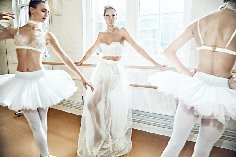 Luna Mae London features ballerinas in its spring-summer 2018 Bespoke campaign