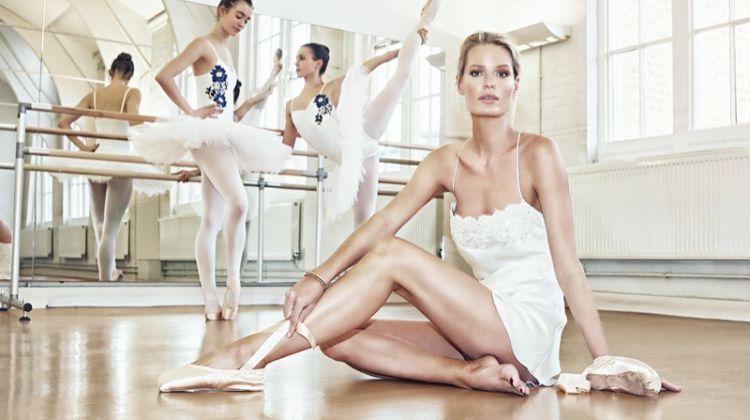 Caroline Winberg Channels Her Inner Ballerina for Luna Mae London's Lingerie Campaign