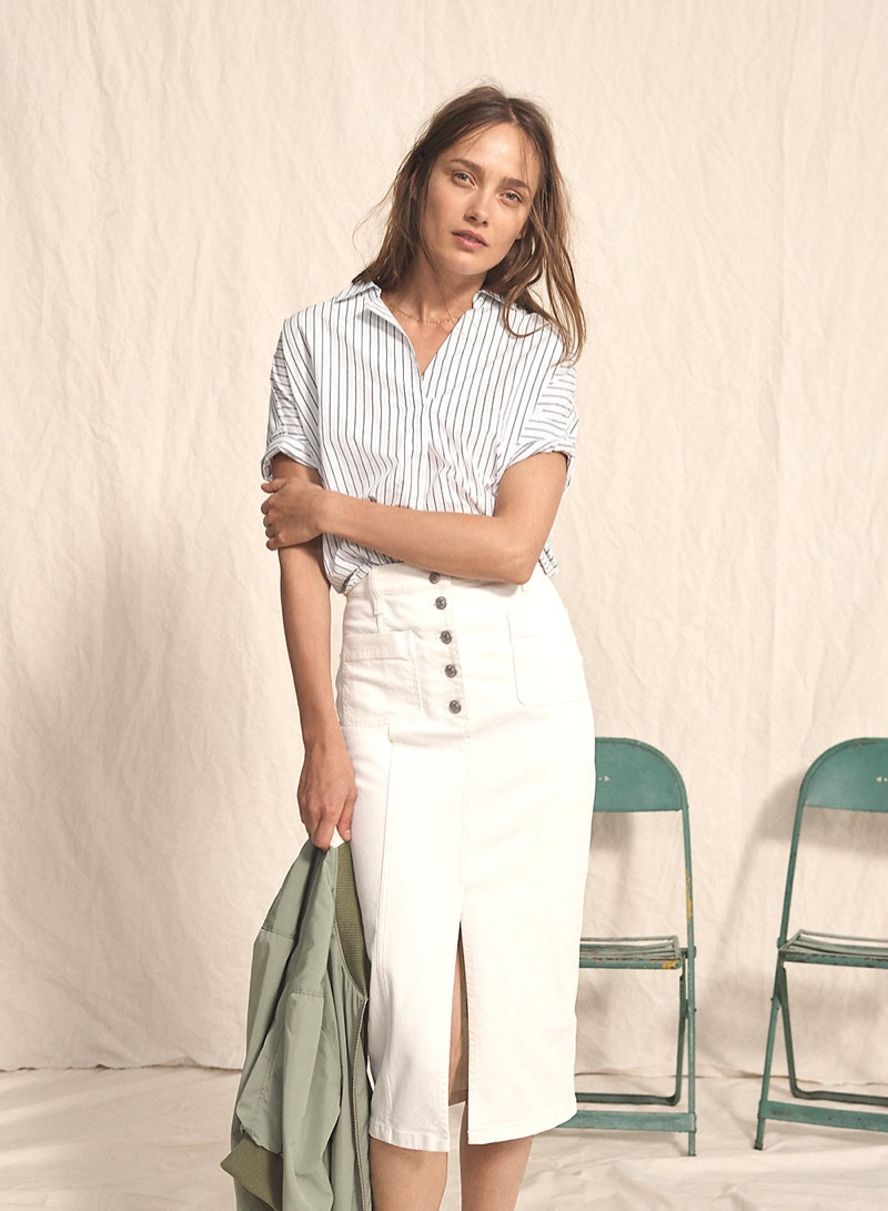 b3b67fcbcacd4 ... Shorts in Stripe · Madewell Courier Button-Back Shirt in Stripe-Play