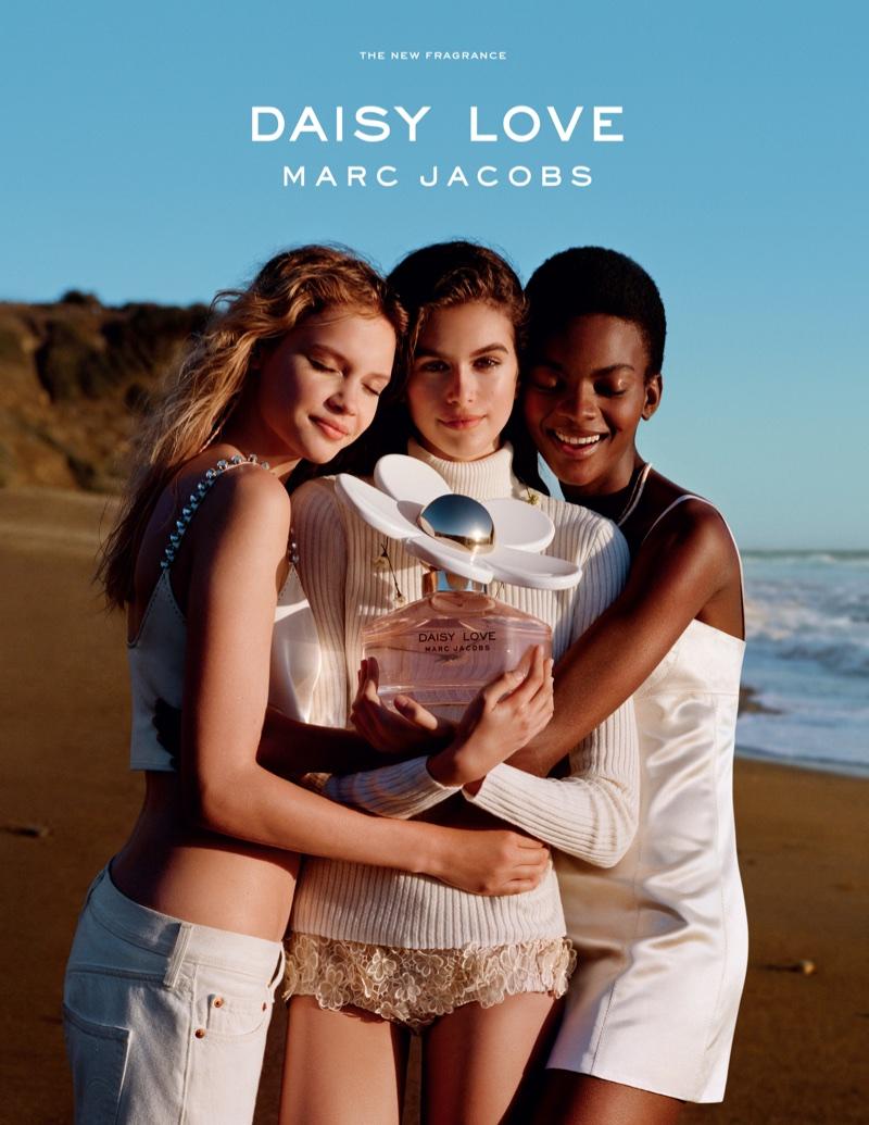 Faith Lynch, Kaia Gerber and Aube Jolicoeur star in Marc Jacobs Daisy Love fragrance campaign