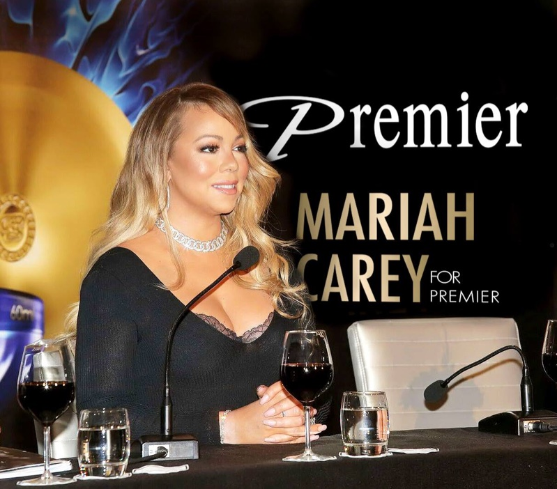 Mariah Carey at Premier Dead Sea event. Photo: courtesy