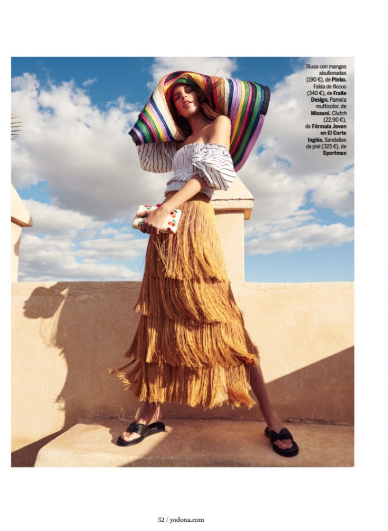 Marta Aguilar Poses in Summer-Ready Fashions for Yo Dona